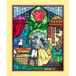 Beauty and the Beast Stained Glass Panel