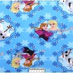 Frozen Olaf and Sisters Frames Blue Fleece