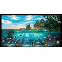 Paradise Found Ocean Life Cotton Panel