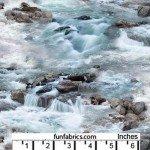 Landscape Raging River Rapids Cotton