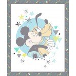 Mickey Mouse Hugging Pluto Cotton Panel