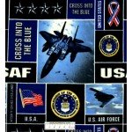7/8 yard piece United States Air Force Squares Fleece