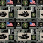 United States Army Squares Fleece