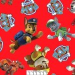 Paw Patrol Pups Toss on Red Fleece
