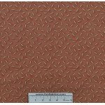 3/4 yard piece Tiggy Winkle Clothespin Rust Cotton Fabr