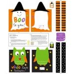 Halloween Trick of Treat Tote Bags Panel