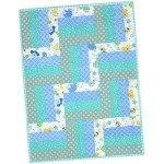 Little One Flannel Blue Pre-Cut Quilt Kit