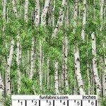 Landscape Birch Trees Cotton