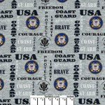 US Coast Guard Words Gray Cotton
