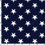 Patriotic Stars Navy 108 Wide Cotton